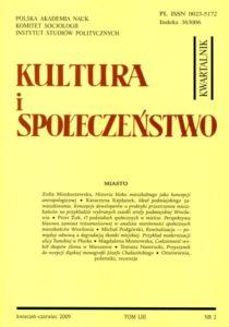Kultura i Społeczeństwo, 2009 nr 2 : Miasto