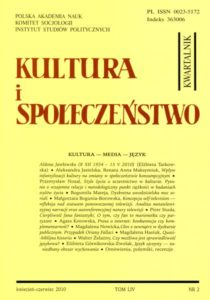 Kultura i Społeczeństwo, 2010 nr 2 : Kultura - media - język
