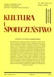 Kultura i Społeczeństwo, 2010 nr 3 : Poznać, co myślą najbiedniejsi
