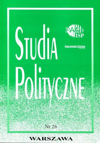 Studia Polityczne, vol. 26  (2010 nr 2)