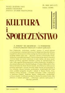 """Kultura i Społeczeństwo, 2015 nr 3 : Z """"terenu"""" do archiwum - i z powrotem"""