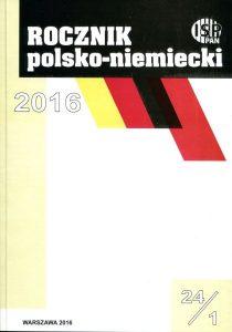 Rocznik Polsko-Niemiecki nr 24/1 (rocznik 2016)