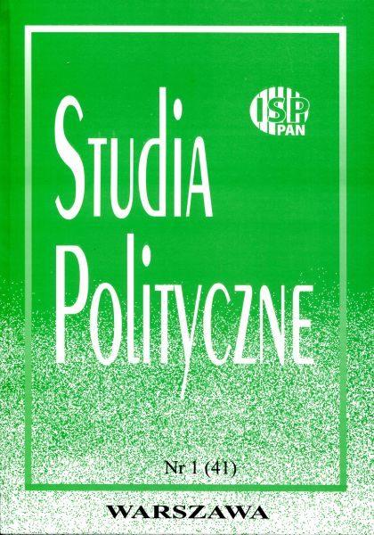 Studia Polityczne vol. 41 (2016 nr 1)