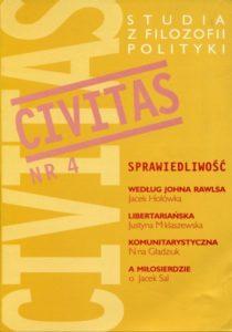 CIVITAS. Studia z filozofii polityki nr 4 (rocznik 2000)