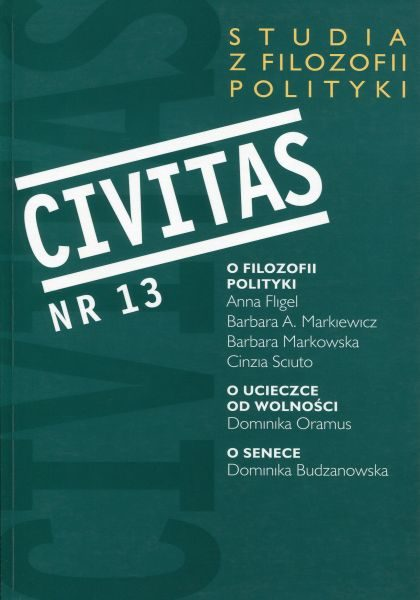 CIVITAS. Studia z filozofii polityki, nr 13 (rocznik 2011) : O filozofii polityki