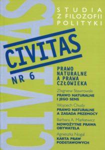 CIVITAS. Studia z filozofii polityki, nr 6 (rocznik 2002) : Prawo naturalne a prawa człowieka