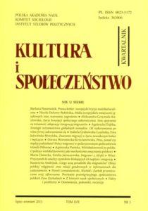 Kultura i Społeczeństwo, 2013 nr 3 : Nie u siebie