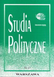 """""""Studia Polityczne"""", vol. 27 (2011 nr 1)"""