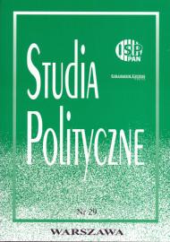 Studia Polityczne, vol. 29  (2012 nr 1)