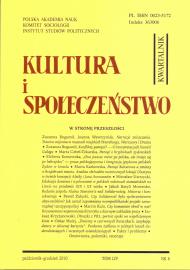 Kultura i Społeczeństwo, 2010 nr 4 : W stronę przeszłości