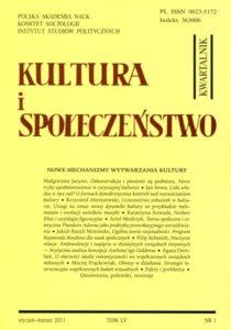 Kultura i Społeczeństwo, 2011, nr 1