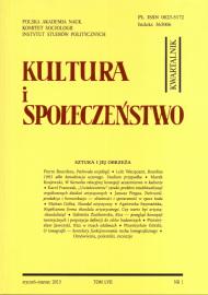 Kultura i Społeczeństwo, 2013 nr 1 : Sztuka i jej obrzeża