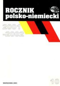 """""""Rocznik Polsko-Niemiecki"""", nr 10 (rocznik 2001-2002)"""