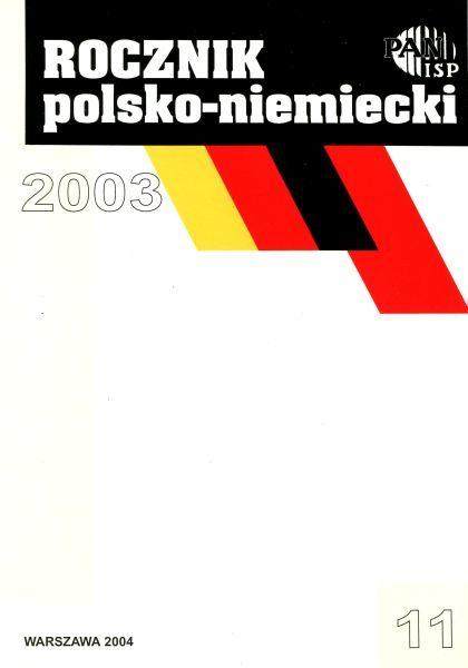 Rocznik Polsko-Niemiecki, nr 11 (rocznik 2003)