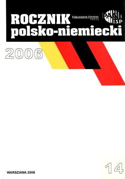 """""""Rocznik Polsko-Niemiecki"""", nr 14 (rocznik 2006)"""
