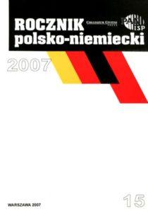 """""""Rocznik Polsko-Niemiecki"""", nr 15 (rocznik 2007)"""