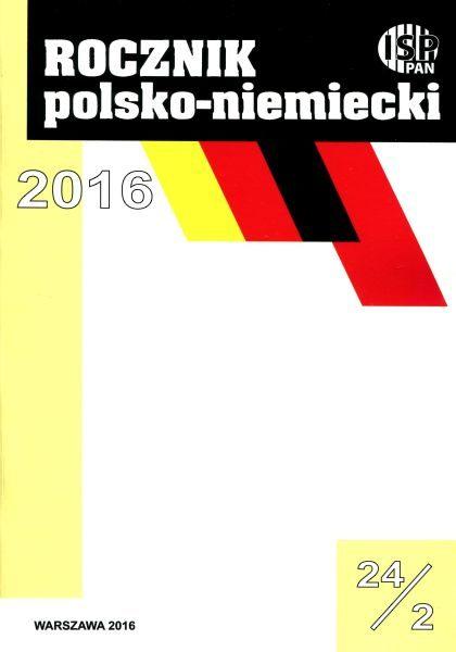 """""""Rocznik Polsko-Niemiecki"""", vol. 24 /z. 2 (2016 nr 2)"""