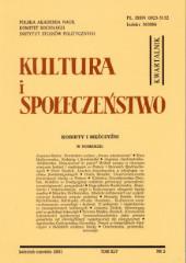 Kultura i Społeczeństwo, 2001 nr 2 : Kobiety i mężczyźni