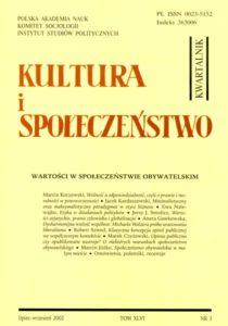 Kultura i Społeczeństwo, 2002 nr 3 : Wartości w społeczeństwie obywatelskim