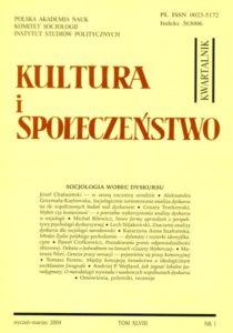 Kultura i Społeczeństwo, 2004 nr 1 : Socjologia wobec dyskursu