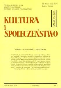 Kultura i Społeczeństwo, 2004 nr 3 : Naród - Etniczność - Tożsamość