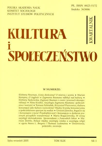 Kultura i Społeczeństwo, 2005 nr 3