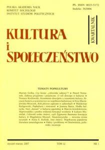 Kultura i Społeczeństwo, 2007 nr 1 : Tematy popkultury