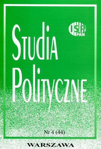 Studia Polityczne, vol. 44  (2016 nr 4)