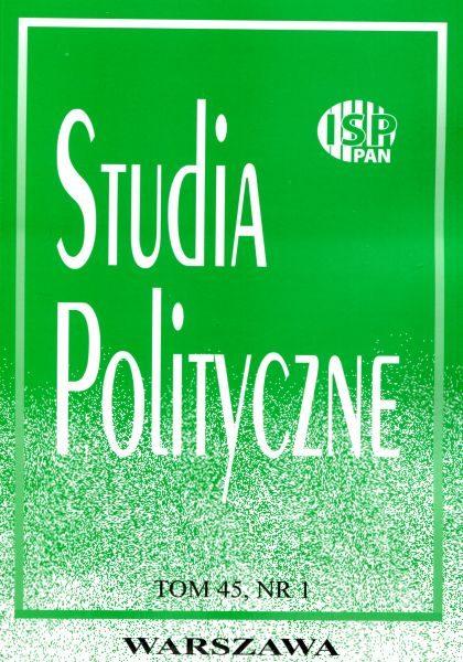 Studia Polityczne, tom. 45, nr 1 (2017)