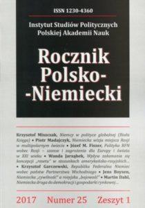 Rocznik Polsko-Niemiecki, nr 25, z. 1 (rocznik 2017)