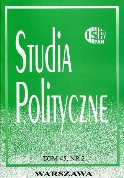"""Studia Polityczne"", tom 45, nr 2, (2017)"