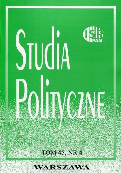 """Studia Polityczne"", 2017, tom 45, nr 4"
