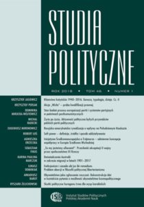 """Studia Polityczne"", tom 46, nr 1"