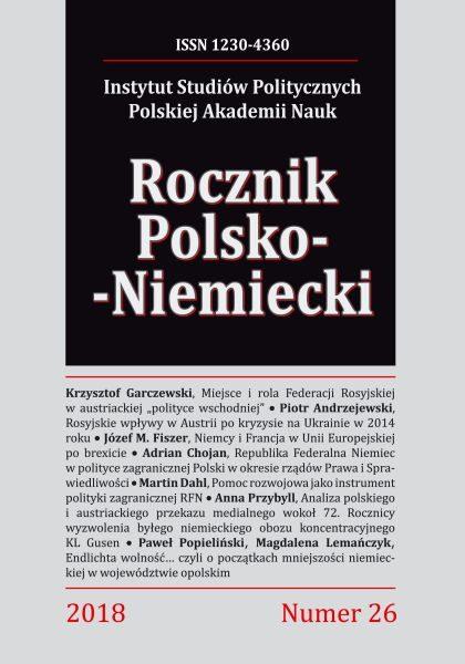 Rocznik Polsko-Niemiecki, nr 26 (rocznik 2018)