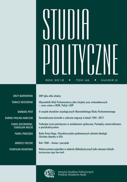 Studia Polityczne, tom 46 nr 2 (rocznik 2018)