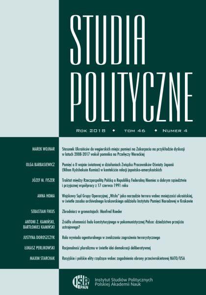 Studia Polityczne, tom 46, nr 4 (2018)