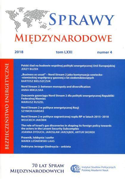 Sprawy Międzynarodowe, tom LXXI, nr 4 (2018)