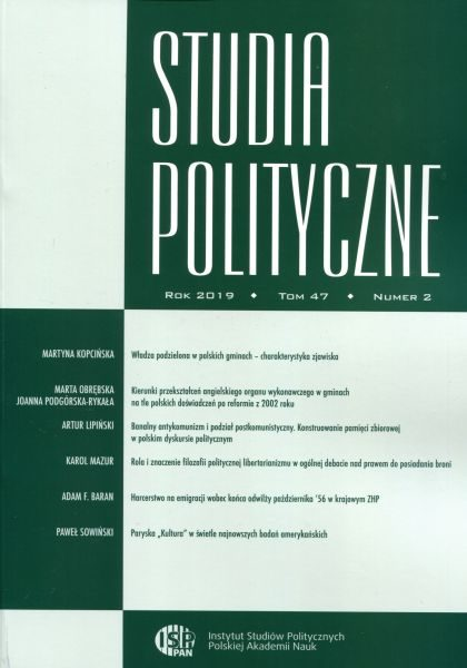 Studia Polityczne, tom 47, nr 2 (2019)