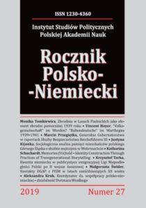 Rocznik Polsko-Niemiecki, nr 27 (rocznik 2019)