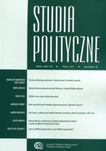 Studia Polityczne, tom 47, nr 3 (2019)