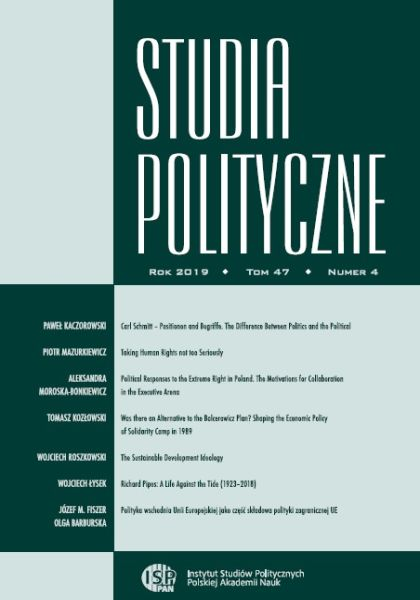 Studia Polityczne, tom 47, nr 4 (2019)