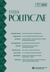 Studia Polityczne, tom 48, nr 2 (2020)