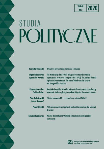 Studia Polityczne, tom 48, nr 3 (2020)