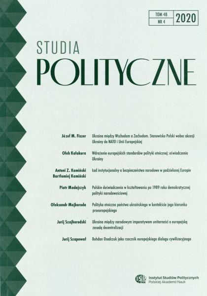 Studia Polityczne, tom 48, nr 4 (2020)