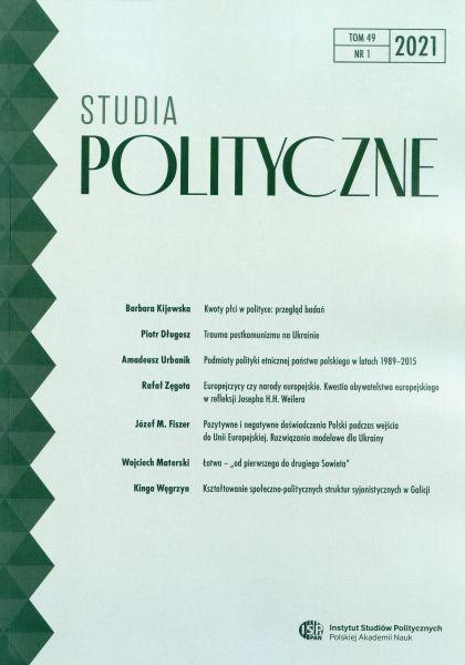 Studia Polityczne, tom 49, nr 1 (2021)