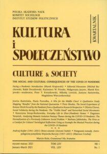 Kultura i Społeczeństwo, 2021 nr 1