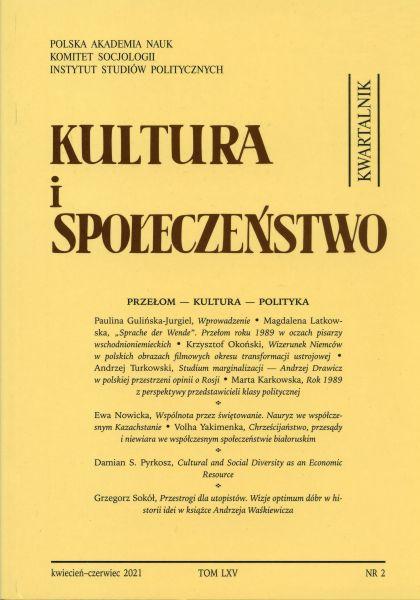 Kultura i Społeczeństwo, 2021 nr 2